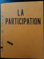 """Cahier du Pavé """"La participation"""""""